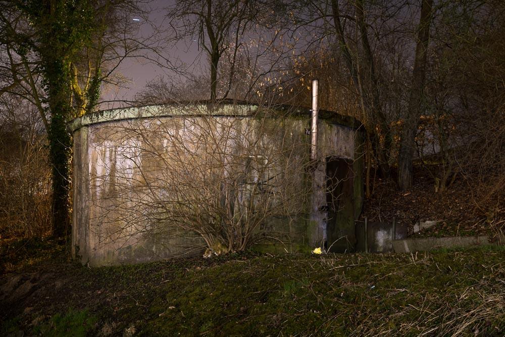Einer von 30 Bunkern in Finkenwerder